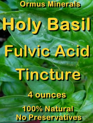 Ormus Minerals -Holy Basil Fulvic Acid Tincture
